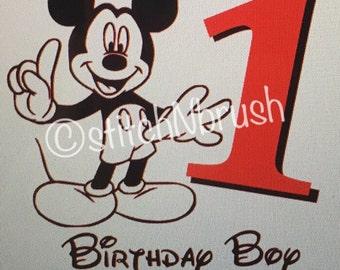 Mickey Mouse birthday iron on vinyl