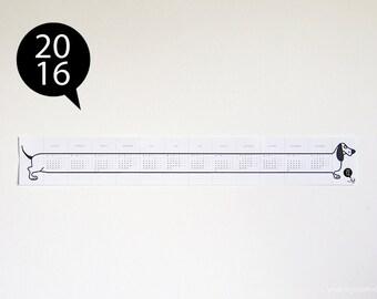 2016 Printable calendar, basset hound, monday-sunday, desk calendar, wall calendar, printable calendar, DIY, instant download