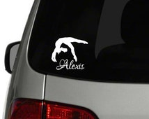 Personalized Gymnastics Car Decal, Personalized Gymnastics Gifts, Gymnastics Team Fundraiser, Gymnast Decal, Gymnastics Window Decal