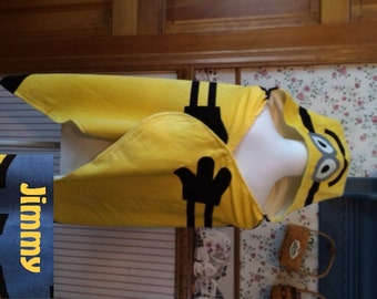 MINION Super Soft Hooded Beach Towel Wrap - Personalized