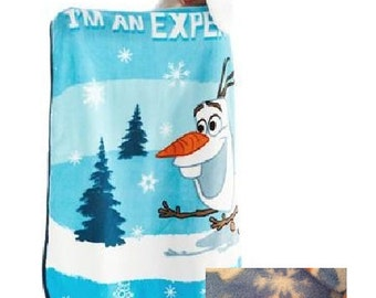 FROZEN Olaf Hoodie-Wink Blanket Throw Helmut Hat - Personalized