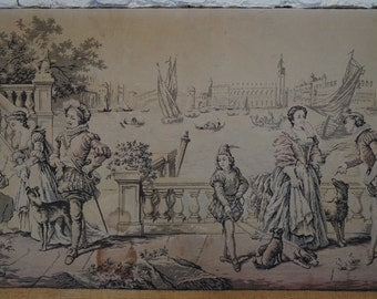 An Antique French Tapestry - 185cm x 94cm