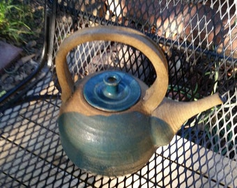 Handmade Ceramic Tea Pot in Beautiful Earth tones
