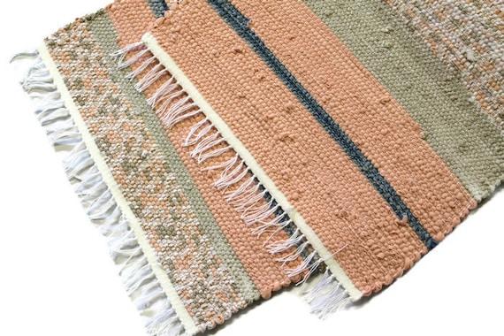 Loom Woven Rag Rug Recycled Cotton Rag Carpet Kitchen Rag