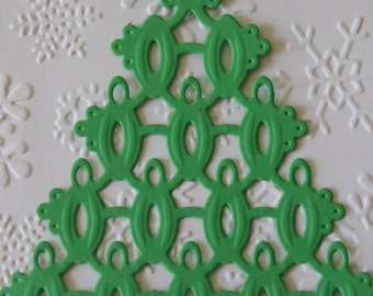 10 Die Cut Christmas Tree Embellishments by Heartfelt Creations