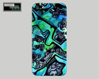 Pen vs. Watercolor Case for iPhones (Models 5, 5S, 6, 6S, 6 plus, 6S plus, 7, and 7 plus.)