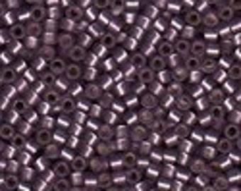 MIYUKI #11 Delica 695 - Semi Matte Silver Lined Mulberry - 5 grams