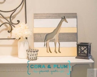 Giraffe Custom Baby Nursery Childs Room Sign