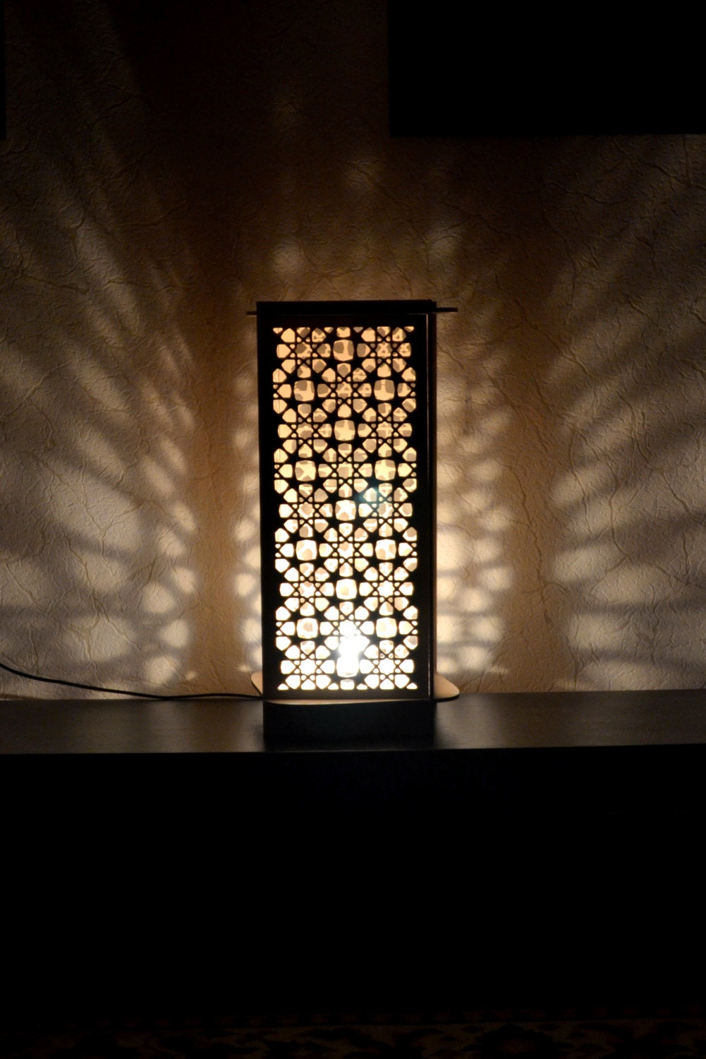 Floor table lamp moroccan ornaments wooden handmade light - Improve your home decor with moroccan lamps ...