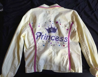 Princess Handpainted 1950's Yellow Jacket