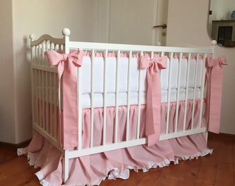 Baby girl nursery bedding set /// Crib bedding, Nursery bedding, Cot bedding