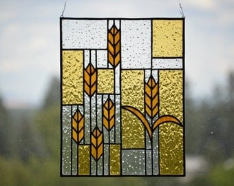 Prairie Wheat - Stained Glass Panel