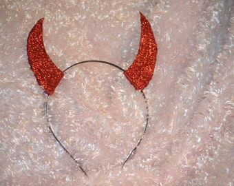 Devil Horn Headband - Sparkly Devil Horn Headband - Fits ages 2 to Adult - Glittery Devil Horn Headband
