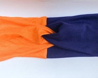 Auburn University inspired Team Head Wrap, Stretchy turban, Infant, Child, Adult Sizes, football, sports