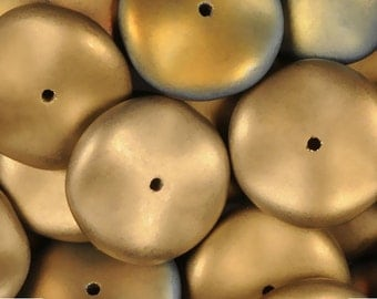 Preciosa Ripple Bead Matte California Sunshine 12 mm (10)