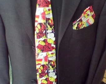 Handmade Iron Man Pocket Square