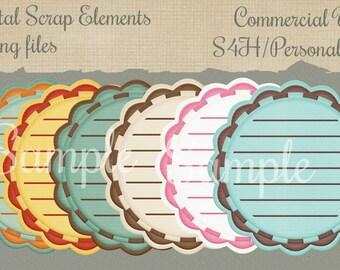 Digital Scrap Element Png Commercial Use Mixed Media