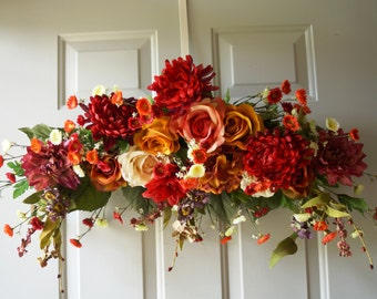 Fall Wedding Arch , Fall Summer Swag Wreath, Summer Wreath, Peony Wreath,Door Wreath, Fall Wreath