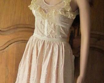 dress vintage lace Helen, color powders