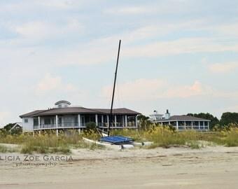 Fine Art Photography Sullivan's Island SC / Beach Landscape/ Beach House Still Life / Sand and Sun / Sailing Vacation