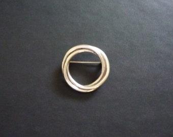 Vintage Sterling Circle Pin