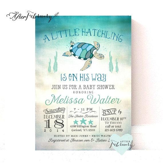 sea turtle baby shower invitation under the sea baby shower invite