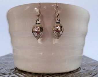 flower bud earrings, Sterling Silver ear wires, bridesmaid gifts