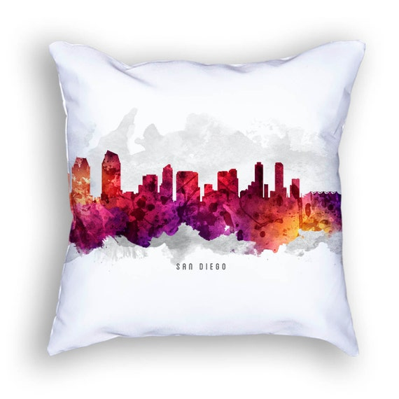 San Diego California Pillow San Diego Skyline San Diego