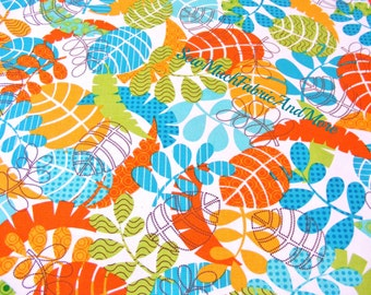 Monkeying Around Tropical Leaf Fabric-Kanvas Studio-by the yard~Benartex