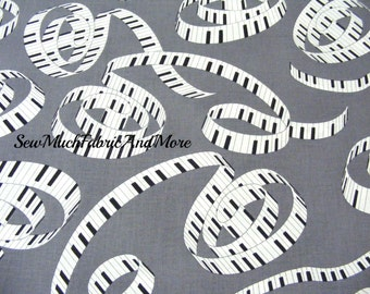 Spiraling Piano keys fabric-Let There Be Music-Windham-38996~Whistler Studios~by 1/2 yd