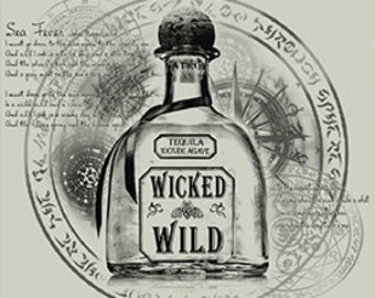 Wicked & Wild Short Sleeve V-Neck T-Shirt