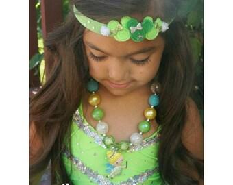 Tinker bell Bohemian Minnie Crown. Tinker bell headband . Tinkerbell halo.