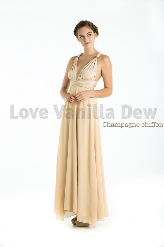 Bridesmaid Dress Infinity Dress Champagne With By