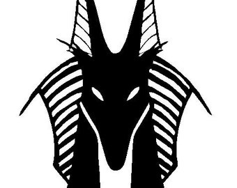 Anubis (Anpu) God of Ancient Egypt Decal for Cars or Homes:  Anubis decor, Egyptian Decals, Egyptian Gifts and Decor, Statue of Anubis