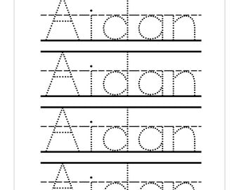 Name tracing sheets for kindergarten printable name for Name templates for preschool