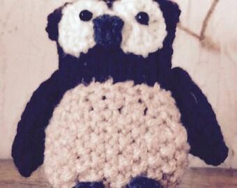 Handmade knitted owl
