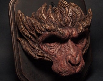 SARU mask painted monkey mask monkey king