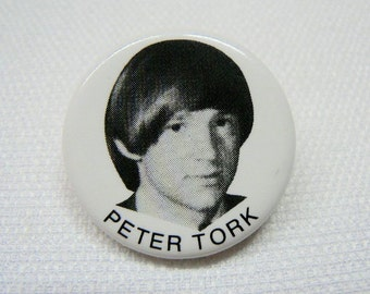 Vintage 1960s The Monkees / Peter Tork - Fan Pin / Button / Badge (Date Stamped 1966)
