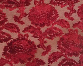 High End Deep Red Velvet Upholstery Fabric