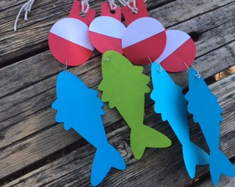 Fishing Party Favor Tags - Party Decorations, Bobbers, Birthday Party, Baby Shower, Under the Sea