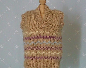 1/12th scale knitted tank top for doll or display