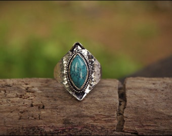 Different stones! Rings Silver with stones. Boho style. Ethnic jewelry.