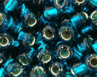 Silver Lined Teal 27BD Toho Seed Bead 6/0