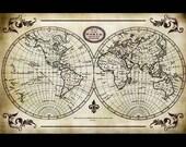 "World Map Collage Paper - 10 1/2"" x 16"" - CLPR0008"