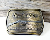 Buckle, Remington, Belt, Brass, Vintage 1970s, Excellent Condition