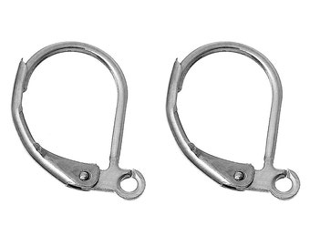 Stainless Steel Lever Back Clips Earring Findings