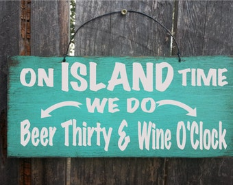 island art, island decor, on island time, happy hour sign, hawaii, island life, island lifestyle