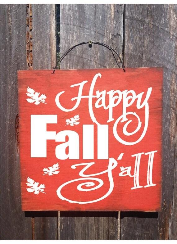 fall decor, fall sign, autumn decor, autumn decoration, happy fall y'all, thanksgiving decoration