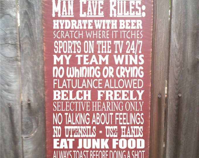 man cave rules, man cave sign, man cave decoration, man cave gift, man cave wall decor, man cave, man cave wall decor, 142