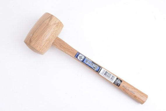 Leather Craft Tool Circle Wooden Hammer Leather Craft Tool